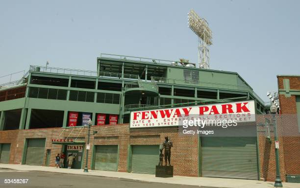 General view of the exterior of the Boston Red Sox home field of Fenway Park on May 1 2004 in Boston Massachusetts