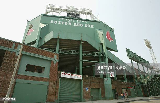 General view of the exterior of the Boston Red Sox home field of Fenway Park on May 1, 2004 in Boston, Massachusetts.
