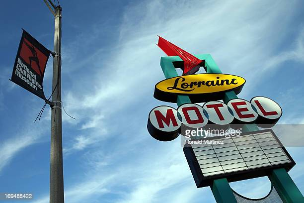 A general view of the exterior of the Lorraine Motel which is now part of the National Civil Rights Museum on May 25 2013 in Memphis Tennessee Dr...