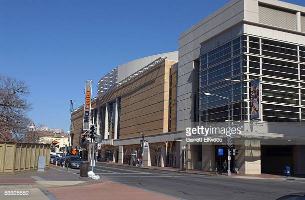 A general view of the exterior of the MCI center is seen during the day on February 23 2002 at the MCI Center in Washington DC NOTE TO USER User...