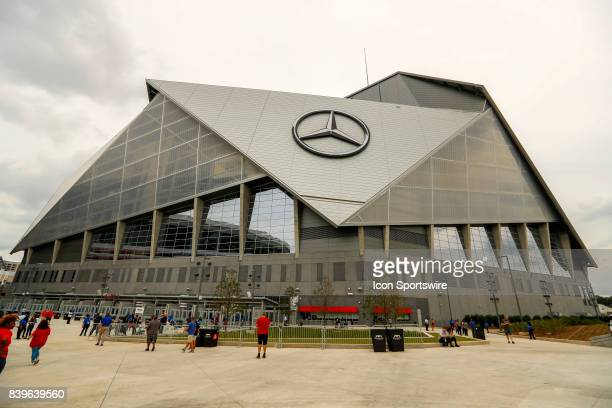 A General View Of The Exterior MercedesBenz Stadium Prior To An NFL Football Game