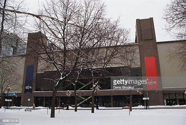 General view of the exterior of the Montreal Forum on January 1, 1970 in Montreal, Quebec, Canada.