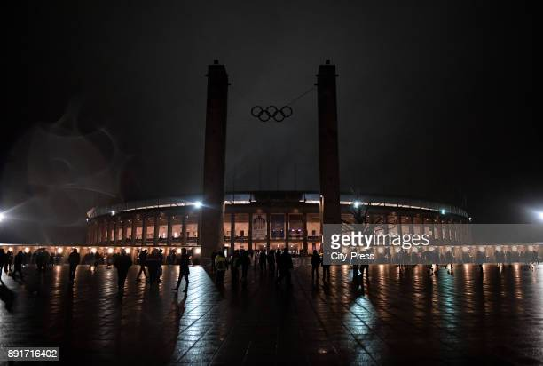 A general view of the exterior of the Olympiastadium before the game between Hertha BSC and Hannover 96 on december 13 2017 in Berlin Germany