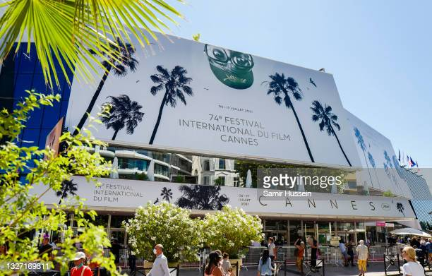 General view of the exterior of the Palais de Festivals ahead of the 74th annual Cannes Film Festival on July 05, 2021 in Cannes, France.