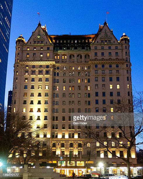 A general view of the exterior of the Plaza Hotel on Grand Army Plaza on February 9 2012 in New York City