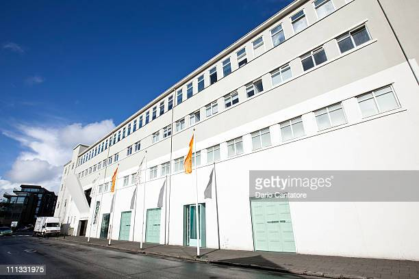 A general view of the exterior of the Reykjavik Art Museum during the Reykjavik Fashion Festival at Reykjavik Art Museum on March 31 2011 in...