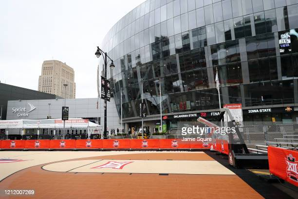 A general view of the exterior of the Sprint Center as no fans will be allowed inside the remainder of the Big 12 tournament games at the Sprint...