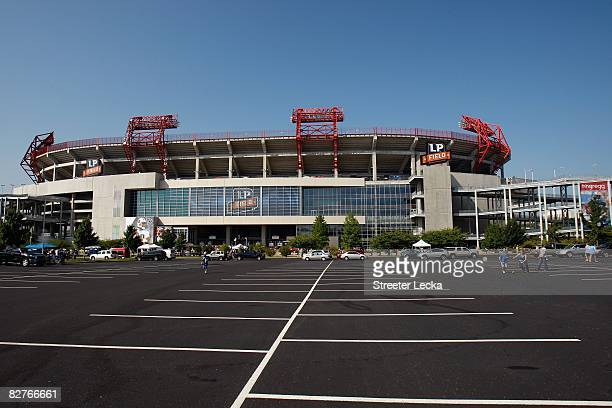 General view of the exterior of the stadium before the game between the Jacksonville Jaguars and the Tennessee Titans on September 7 2008 at LP Field...