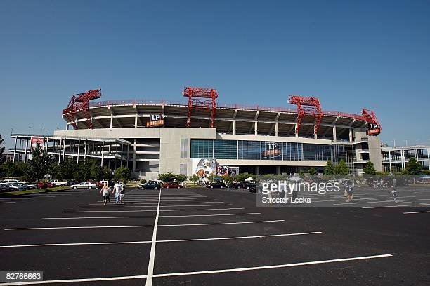 General view of the exterior of the stadium before the game between the Jacksonville Jaguars and the Tennessee Titans on September 7, 2008 at LP...