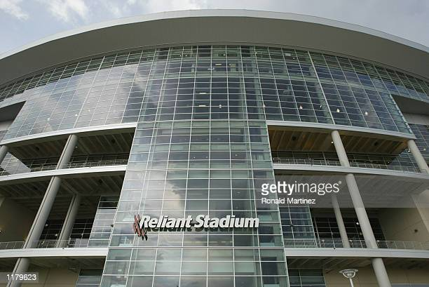 General view of the exterior of the stadium during training camp of the Houston Texans on July 22 2002 at Reliant Park in Houston Texas