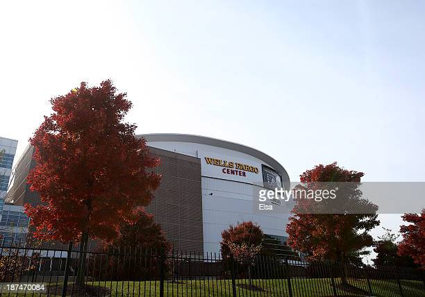 General view of the exterior of the Wells Fargo Center before the game between the Edmonton Oilers and the Philadelphia Flyers on November 9, 2013 in...