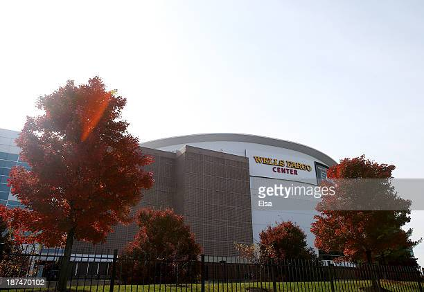 A general view of the exterior of the Wells Fargo Center before the game between the Edmonton Oilers and the Philadelphia Flyers on November 9 2013...