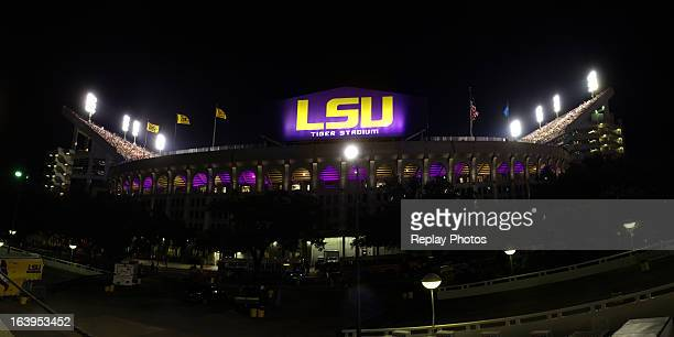 A general view of the exterior of Tiger Stadium during a game between the LSU Tigers and the Washington Huskies on September 8 2012 in Baton Rouge...