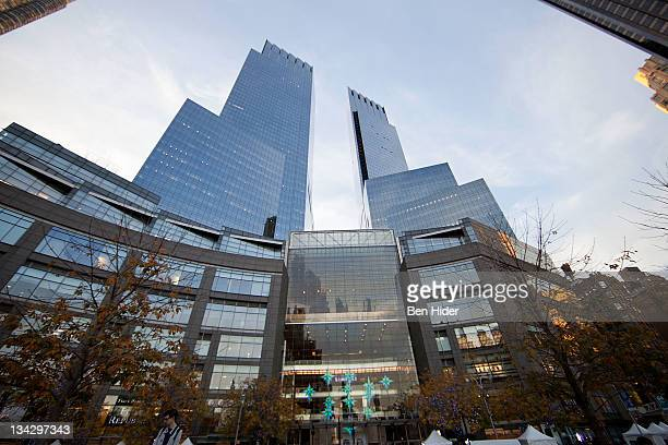 General view of the exterior of Time Warner Center on November 28, 2011 in New York City.