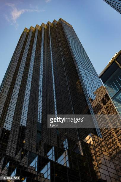 A general view of the exterior of Trump Tower located on 5th Avenue midtown Manhattan New York the skyscraper is 664 feet tall designed by Der Scutt...