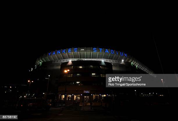 A general view of the exterior of Yankee Stadium during the night game between the Chicago White Sox and the New York Yankees on September 15 2008 at...