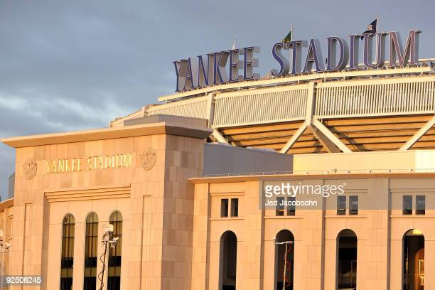 General view of the exterior of Yankee Stadium prior to Game Two of the 2009 MLB World Series between the New York Yankees and the Philadelphia...