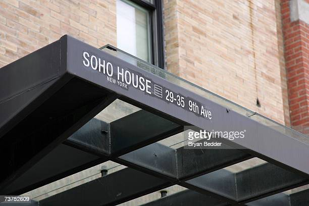 A general view of the exterior signage of Soho House at 29 9th Avenue on March 30 2007 in New York City