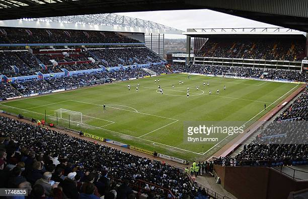 A general view of the FA Barclaycard Premiership match between Aston Villa and Tottenham Hotspur on January 18 2003 at Villa Park in Birmingham...