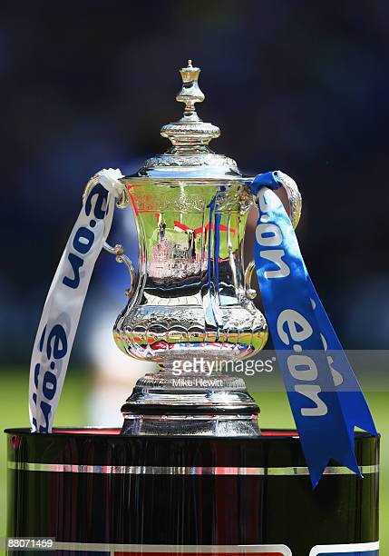A general view of the FA Cup trophy during the FA Cup sponsored by EON Final match between Chelsea and Everton at Wembley Stadium on May 30 2009 in...
