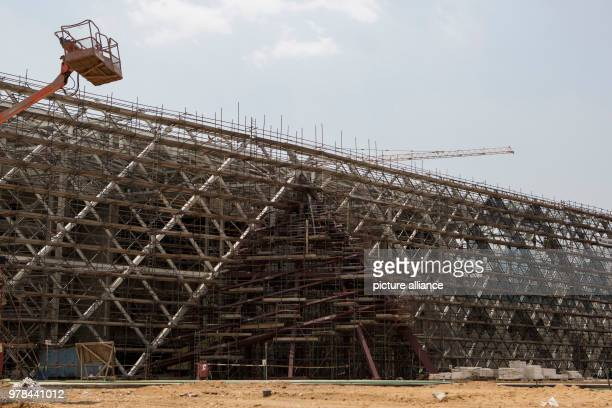 General view of the facade of the Grand Egyptian Museum, in Giza, Egypt, 26 April 2018. Photo: Gehad Hamdy/dpa