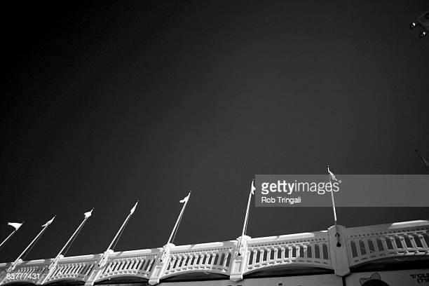 A general view of the facade of Yankee Stadium shot with a infrared camera during a game against the Baltimore Orioles on September 20 2008 at Yankee...