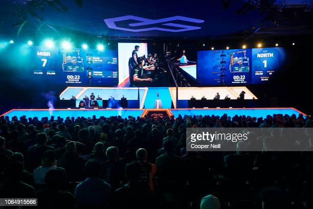A general view of the FACEIT ECS Season 6 semifinals between MIBR and North on November 24 2018 in Arlington Texas