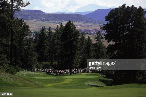 A general view of the fairway during the Sprint International on August 21 1998 at the Castle Pines GC in Castle Pines Colorado