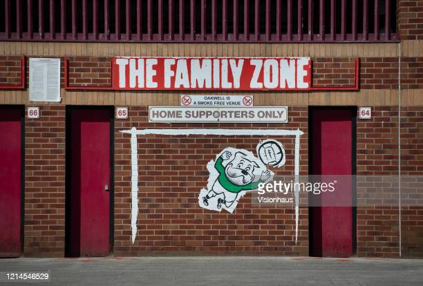 A general view of the Family Zone entrance at the Oakwell Stadium home of Barnsley Football Club on March 23 2020 in Barnsley England