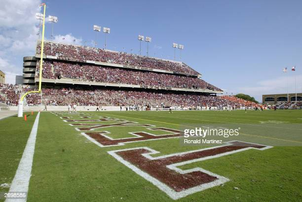 General view of the fans at the game between the Texas A&M University Aggies and the Oklahoma State University Cowboys at Kyle Field on October 25,...