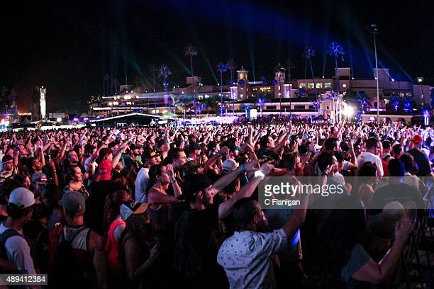 A general view of the fans during the 2015 KAABOO Del Mar at the Del Mar Fairgrounds on September 20 2015 in Del Mar California
