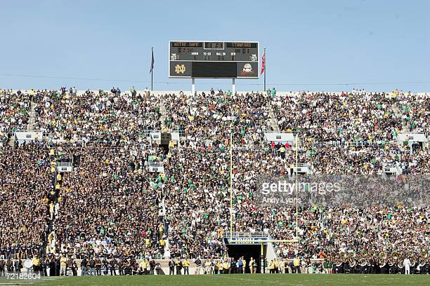 A general view of the fans taken during the game between the Notre Dame Fighting Irish and the Stanford Cardinal on October 7 2006 at Notre Dame...