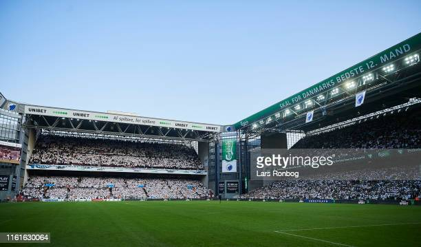 General view of the fans, the pitch and the stands prior to the UEFA Champions League 3rd Round Qual. Match between FC Copenhagen and Crvena Zvezda...