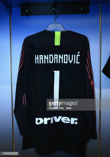 A general view of the FC Internazionale dressing room ahead of the serie A match between FC Internazionale and ACF Fiorentina at Stadio Giuseppe...