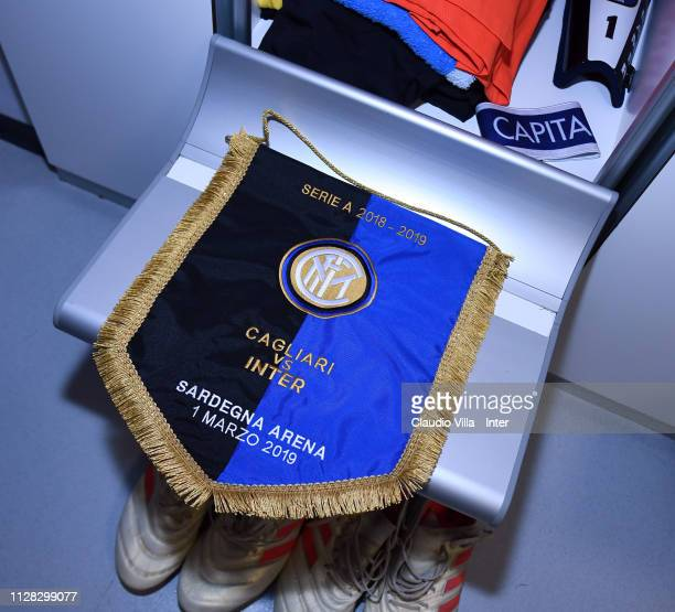 A general view of the FC Internazionale dressing room ahead of the Serie A match between Cagliari and FC Internazionale at Sardegna Arena on March 1...