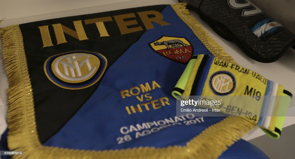 A general view of the FC Internazionale Milano dressing room ahead of the Serie A match between AS Roma and FC Internazionale on August 26, 2017 in Rome, Italy.