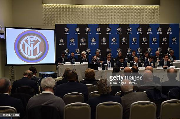 A general view of the FC Internazionale shareholder's meeting at Hotel Gallia on October 19 2015 in Milan Italy
