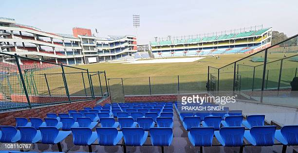 A general view of the Feroj Shah Kotla cricket grounds one of the venues for the ICC 2011 Cricket World Cup in New Delhi on January 18 2011 AFP...
