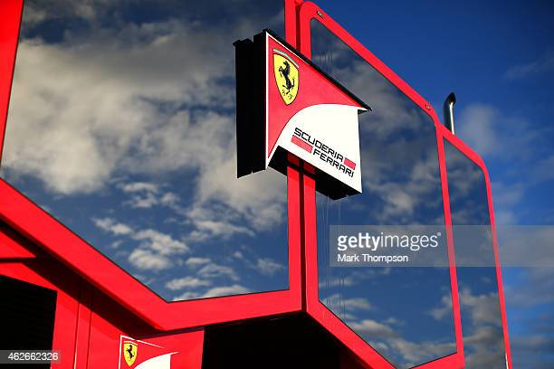 A general view of the Ferrari motorhome in the paddock during day two of Formula One Winter Testing at Circuito de Jerez on February 2 2015 in Jerez...