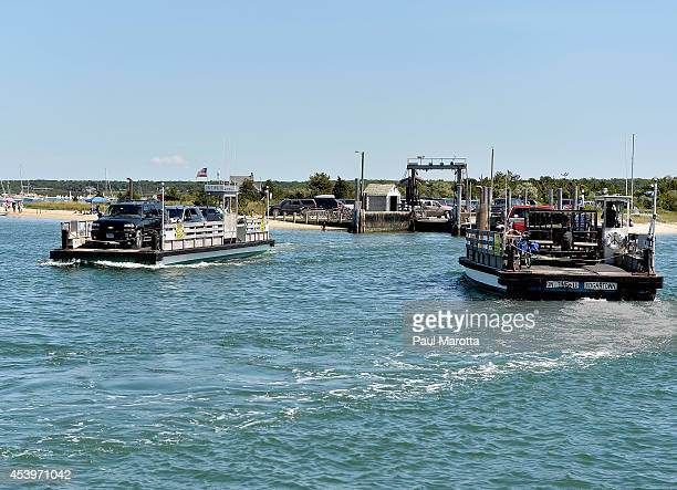A general view of the Ferry from Chappaquiddick Island from Edgartown on August 21 2014 in Martha's Vineyard MA