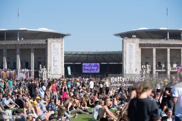 General view of the festival grounds on Day 2 at the fourth edition of Lollapalooza Berlin at Olympiastadion on September 9, 2018 in Berlin, Germany.