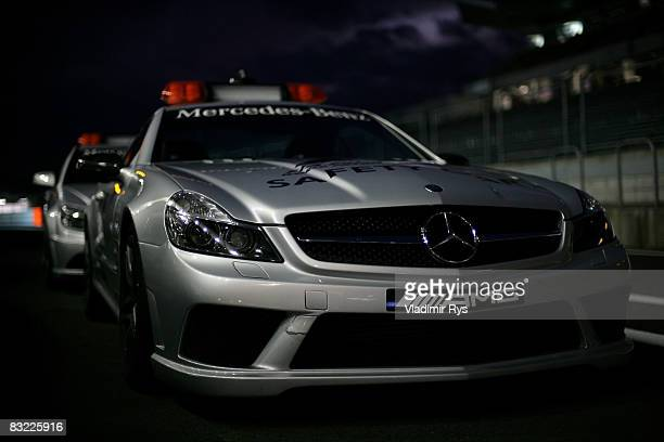 General view of the FIA safety cars following qualifying for the Japanese Formula One Grand Prix at the Fuji Speedway on October 11, 2008 in...