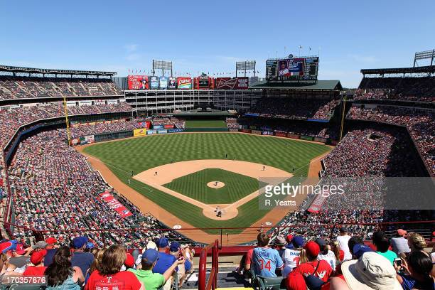 A general view of the field at Rangers Ballpark in Arlington on June 2 2013 in Arlington Texas
