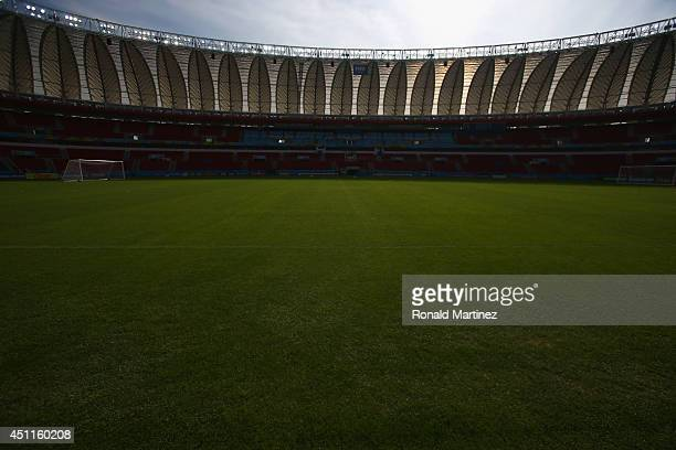 General view of the field before Argentina trains at Estadio Beira-Rio on June 24, 2014 in Porto Alegre, Brazil.