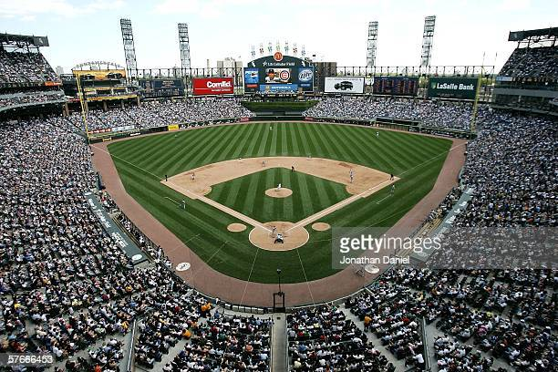 A general view of the field during a game between the Chicago White Sox and the Chicago Cubs on May 20 2006 at US Cellular Field in Chicago Illinois