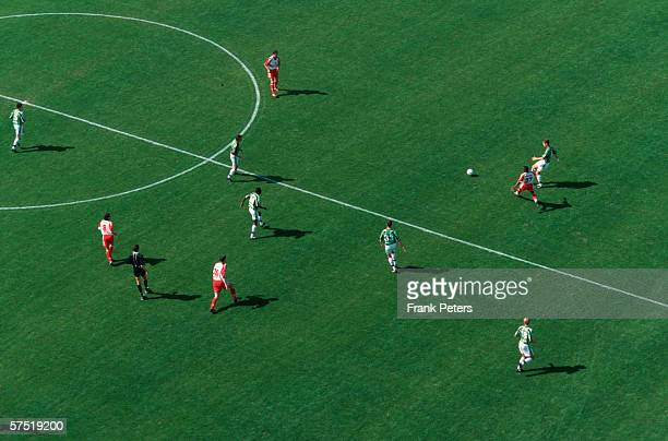 General view of the field during the bundesliga match between VFL Wolfsburg and VFB Stuttgart on May 01 1999 in Wolfsburg Germany