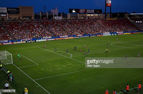 A general view of the field during the game between the San Jose Earthquakes and the FC Dallas at FC Dallas Stadium on July 7 2012 in Frisco Texas