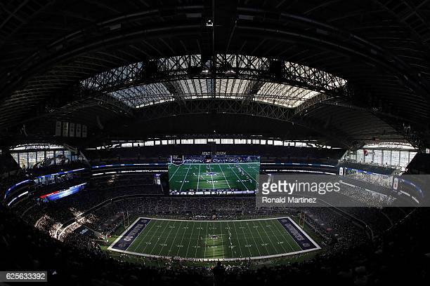 A general view of the field during the game between the Washington Redskins and Dallas Cowboys at ATT Stadium on November 24 2016 in Arlington Texas