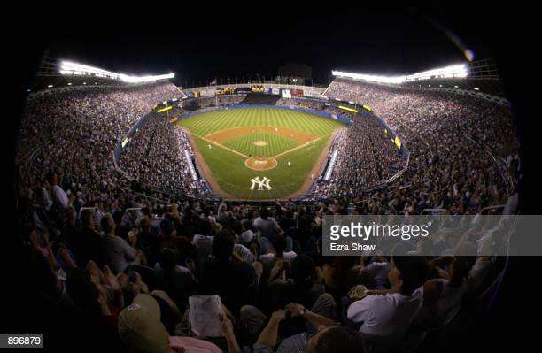 General view of the field during the MLB game between the New York Mets and the New York Yankees on June 30 2002 at Yankee Stadium in the Bronx New...
