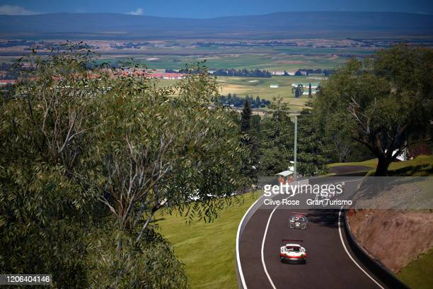 General view of the field in action during the Manufacturer Series Grand Final during Round 1 of the FIA Gran Turismo World Tour 2020 held at Luna...